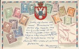 Postcard RA004160 - Crna Gora (Montenegro) Stamps - Francobolli (rappresentazioni)