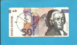 SLOVENIA - 50 TOLARJEV - 1992 - Pick 13 - Prefix HE- Banka Slovenije - 2 Scans - Slovénie
