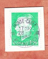 Kartenstueck, Fuerst Rainier, OT Monte-Carlo 1980 (78094) - Monaco