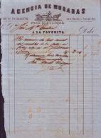 *E400 CUBA SPAIN INVOICE 1864 AGENCIA MUDANZAS ESPAÑA ENGRAVING INVOICE - Documentos Históricos
