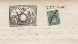 E174 ESPAÑA SPAIN SOCIEDAD DEL TIMBRE DOC. 1879. CORUÑA - Historische Dokumente