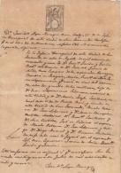 "E165 ESPAÑA SPAIN SEALLED PAPER \""HABILITADO POR LA NACION\"" 1869. BLUE. 200 ML - Historical Documents"
