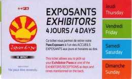 Ticket Exposants 4 Jours : Japan Expo 2015 (02-05 Juillet) - Tickets - Entradas