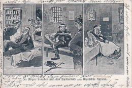 AK Des Bürgers Erwachen Nach Dem Zapfenstreich - Humor - Patriotika - 1928 (16633) - Humor