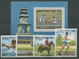 Kongo (Brazzaville) 1988 Olympiade 1125/28 Block 43 Postfrisch (R4751) - Congo - Brazzaville