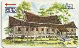 Malaysia (Uniphonekad) - Rumah Negri, Houses, 22MSAC, 1992, 500.000ex, Used - Malaysia