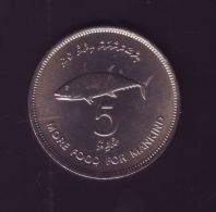 M118 MALDIVE Is COPPER-NICKEL 5r. FISH UNC - Malediven