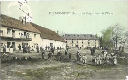 PONT DU NAVOY Les Forges, Cour De L´usine Très Animée  Jura  CPA - Frankrijk
