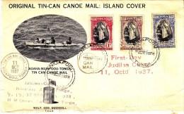 Tonga 1937 Tin Can Mail Cover - Tonga (...-1970)