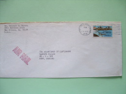 USA 1986 Cover To England - Plane - Archbishop Adress - United States
