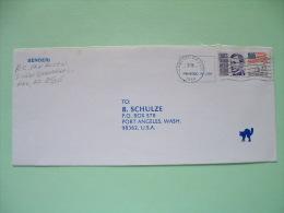 USA 1988 Cover To Port Angeles Wash. - Francis Parkman History - Flag - Etats-Unis