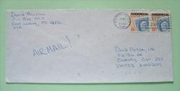USA 1988 Cover To England - Ameripex 86 - Stamp On Stamp - Etats-Unis