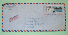 USA 1988 Cover To England - Dorothea Dix - Plane - Etats-Unis