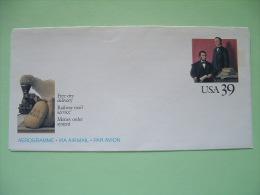 USA 1989 Stationery - Unused - Lincoln - Railway Mail - Train - UPU - Blair - Stati Uniti