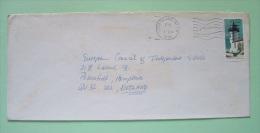 USA 1990 Cover To England - Lighthouse - Long Island Map Slogan - Etats-Unis