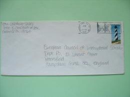 USA 1990 Cover To England - Lighthouse - Horse Merry-go-round Stamp Slogan - Etats-Unis