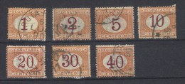 N°s 3 à 9   (1869) - 1900-44 Vittorio Emanuele III