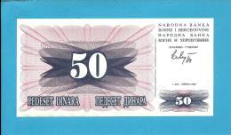 BOSNIA & HERZEGIVINA - 50 DINARA - 1992 - Pick 12 - UNC. -  Prefix HE - Narodna Banka Bosne I Hercegovine - Bosnia And Herzegovina