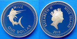 NIUE ISLAND 2010  1 DOLLARO PESCE SPADA FDS - Niue