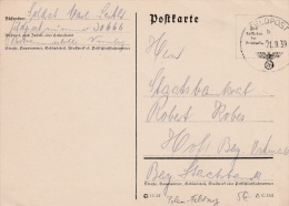 Early Feldpost WW2: Participating In The Attack On Poland - 1. Sanitats-Kompanie 46 FP 30666 P/m 21.9.1939 - Plain Postc - Militaria