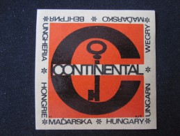 MISC HOTEL SZALLO CONTINENTAL BUDAPEST HUNGARIA HUNGARY HONGRIE DECAL STICKER LUGGAGE LABEL ETIQUETTE AUFKLEBER - Hotel Labels