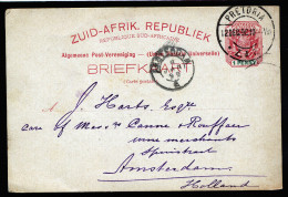 A3149) South Africa Postcard From Pretoria 12/12/1898 To Amsterdam / Netherlands - Südafrika (...-1961)