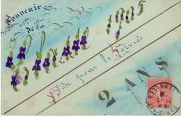 Souvenir De La Classe 1905 - Bon Pour Le Service - 2 Ans - Carte Peinte à La Main, Unique ! Dorures, Peinture - Régiments