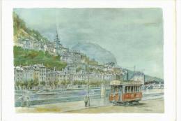 Grenoble Les Quais De L'Isère Et Ste Marie D'en Haut - Tramway - Illustration Q Boutin - Grenoble