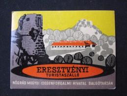 MISC HOTEL SZALLO ERESZTVENYI FERTOD BUDAPEST HUNGARIA HUNGARY HONGRIE DECAL STICKER LUGGAGE LABEL ETIQUETTE AUFKLEBER - Hotel Labels