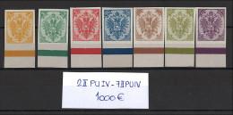 Bosnien und Herzegowina - 1895 - Michel Nr. 2 II PU IV/7 II PU IV Unterrand - sehr hoher KW!!!