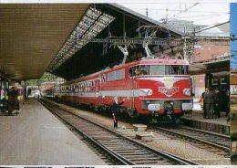 """CP Trains - 31 Haute Garonne - Locomotive BB 9292 Avec La Train """"Capitole"""" En Gare De Toulouse - Cp N° 100 - Toulouse"""