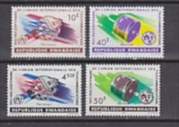 Rwanda 1962 UIT/ITU Space 4v ** Mnh (22947) - Rwanda