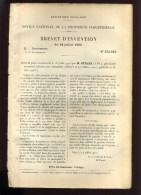 - CARROSSERIE . AUTOMOBILISME . . BREVET D�INVENTION DE 1902 .