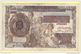 Serbia 1000 Dinari 1941 2° WW - Serbia