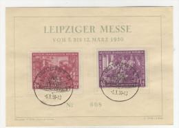 DDR Michel No. 248 - 249 FDC Karte Messe 1950