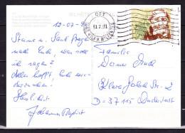 B-1440, Portugal, MiNr. 1963 Auf Postkarte Nach Deutschland - Lettres & Documents