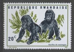 Rwanda 1970 - Gorilla Gorillas MNH ** - Rwanda