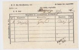 """Liechtenstein, 1861, L2 """" VADUTZ """", R! , #2656 - ...-1912 Vorphilatelie"""