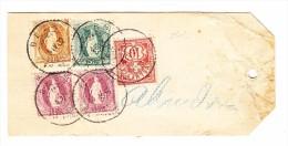 Schweiz Koffer Etikette Kantonskasse Bern Mit Stehende Helvetia U. Ziffer - 1882-1906 Armoiries, Helvetia Debout & UPU