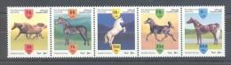 Palestine - 1999 Arabian Horses Strip MNH__(TH-7887) - Palestine