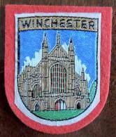 Patch Écusson Tissu Touristique : Angleterre - Winchester - Cathédrale - Ecussons Tissu