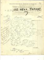 39 - Jura - LA CHAPELLE - Facture DOTTE -  Menuiserie - ébénisterie – 1911 - REF 28D - 1900 – 1949