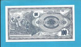 MACEDONIA - 100 DENAR - 1992 - Pick 4 - UNC. - National Bank - Macédoine