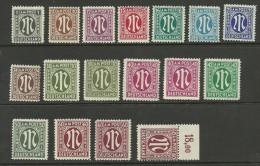 Germany 1945/46 Bizone American & British Zone Post  Deutscher Druck MNH - Zone Anglo-Américaine