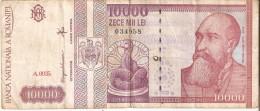 BILLETE DE RUMANIA DE 10000 LEI DEL AÑO 1994 (BANKNOTE) - Rumania