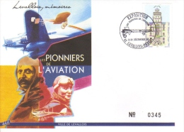 Les Pionniers De L´Aviation  -  France Enveloppe 1er Jour - Airplanes