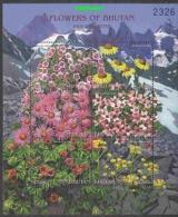 Bhutan Flowers 6v In Sheetlet ** Mnh (22976A) - Bhutan