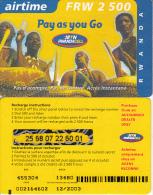 RWANDA - MTN/RwandaCell Prepaid Card FRW 2500(glossy Surface), Exp.date 12/03, Used