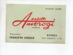 LISSONE  ,  Salotti  Ambrogi  , Pubblicitaria  Concessionario  Genova - Monza