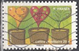 Francia, 2011 - Heart-shaped Plants In Flower Pots - Nr.3967 Usato° - France